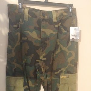 Guess Jeans Cargo Pants Camouflage Boy's Size 16